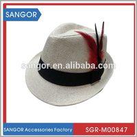 Top quality innovative ladies fancy straw fedora hat