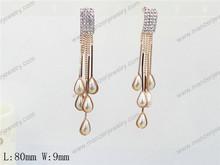 new design red stone estate 14k gold earring