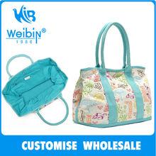 WEIBIN shopping bag WB-8001 oem women canvas handbag