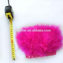 Hot Pink Turkey Feather Fringe Turkey Feather Trim