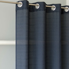 100% Polyester Checkered Curtain, ready made curtain with grommets, rod pocket
