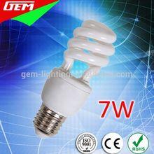 DEM/M-7 2700K T3 Half Spiral 7W Energy Saving Light