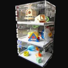 Hot selling popular safe acrylic hamster cage