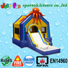 inflatable bouncer with slide,octopus combo with pool,inflatable combo bouncer,EN14960 certified