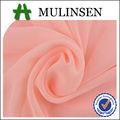 Mulinsen têxtil 75D chiffon tecido dye vestido de mulher 55gsm fina e transparente devore tecido