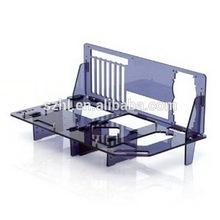 Violet acrylic micro atx case for computer case