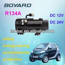 electric car air conditioner 12v with battery powered 12v dc rotary kompressor
