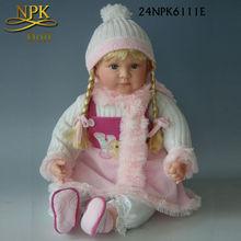Handmade presente de aniversário boneca de silicone 24 polegada boneca de bebê vivo