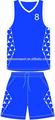 boceto de baloncesto azul con uniforme no moq limitada