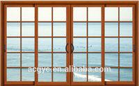 aluminum sliding window with window grill design