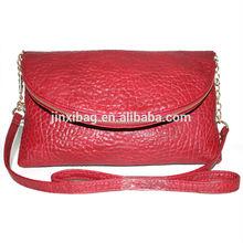 Fashion Red elephant skin PU leather women clutch bag 2014