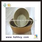 oval cosmetic storage paper box aluminum gift box
