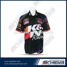 Custom club racing shirts motorcycle tops