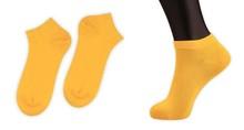 Bulk Wholesale Cheap Summer/Autumn Teen School Girls Thin Cotton Yellow Socks