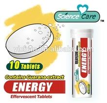 Caffeine energy effervescent tablets 4100mg per pcs