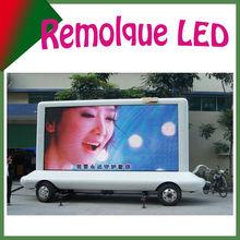 Remolque de cualquier tipo con pantalla led P10mm para publicidad exterior, gigante pantalla para video Shenzhen SUNRISE LED
