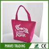 Pink skull cotton canvas tote bag/halloween bag