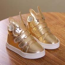 tsd5104 hot selling baby shoe rabbit ear design gold fashion kid shoe