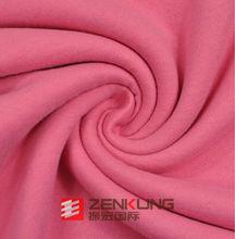 Soft Handfeel CVC Fleece knitted fabric Pink Color