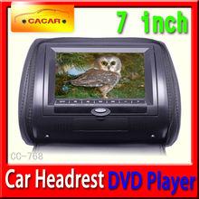 hot sale 7 inch car headrest, car Headrest dvd, car headrest suit for x5