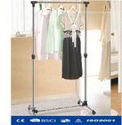 Stainless steel metal coat hanger stand