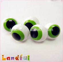 Green Round Plastic Printed Eyes Ball Eyes Animal Eyes for Plush Toy