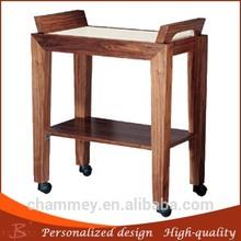 hot sell stylish design china professional custom wood hair salon makeup cart furniture