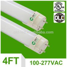 5 years warranty t8 18w smd led tube light dlc UL cUL CSA 4ft LED tube light