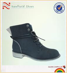 Wholesale 2015 black lace up shoes woman boots