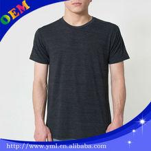 plain black men's 100% bamboo t-shirts custom wholesale