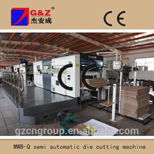 semi auto die cutting machine with stripping device