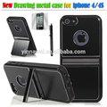 Ebay covers telefone celular stand de pé para o iphone caixa de metal, Canal caixa do telefone móvel