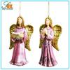 Custom Pink Resin Christmas Tree Angels Ornaments Assortment Two