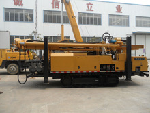 cheapest deep crawler DTH and mud pump water well drilling rig SL1100