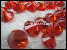 High Quality orange 9mm Round Cubic Zirconia Gemstone