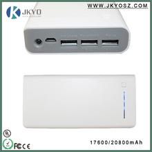Power bank for iphone6,power bank for iphone5,17600MAH 3 USB ports power bank for macbook pro /ipad mini