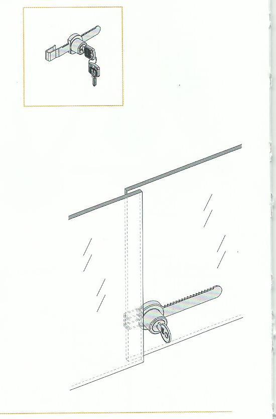 замок схема установки