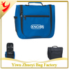 Promotional Multi Travel Deluxe Hanging Toiletry Bags manufactured from 600D polyester