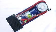 Mini Tire Inflator Tool blue Single Barrel Car air compressor High pressure Foot Pump