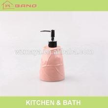 Pink leaf surface design 150ml foam water bottle