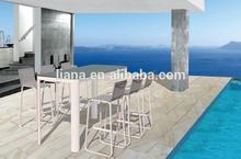 Outdoor patio aluminium sling material bar furniture