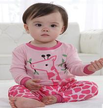 new arrivals kid giraffe pajamas, baby pyjamas, cute style kid homewear