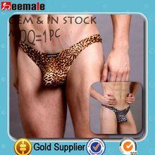 Free Sample Picture Of Sexy Gay Men Underwear Leopard Manview Underwear In Thongs SM07-5