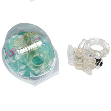 7 powerful vibration frequency Ball agitate delay ring delay loop Male Penis Extender Cock Rings Enhancement