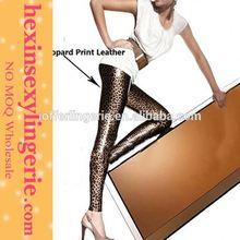 Venta caliente de moda de las polainas patrón de moda medias para las muchachas