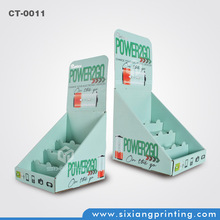 design and printing POS cardboard retail counter display paper boxes and display case for power bank