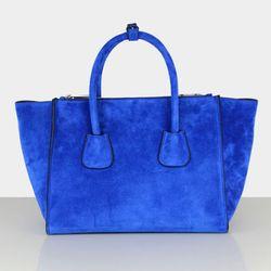 New Arrival Genuine Leather Handbags Stylish Royalblue Shoulder Bag