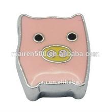 Jewelry fashion 8mm cute animal slider charms