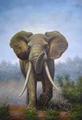 handmade selvagens elefante animal pintura a óleo decorativa