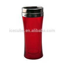 plastic & stainless steel 450ml promotion travel mug